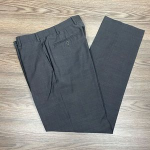 Zanella Charcoal Grey Tic Weave Dress Pants 33x32